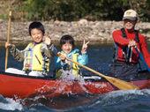 ニセコ カヌー 子供2人.jpg