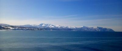 るもい海と暑寒岳