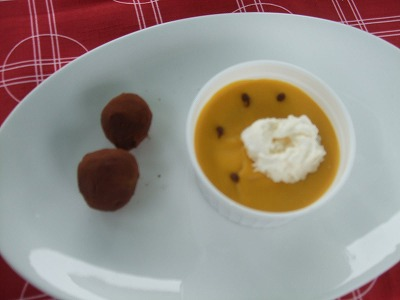 かぼちゃプリンとかぼちゃトリュフ