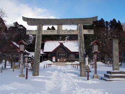 松前神社正面