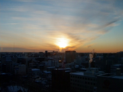 20120128釧路の朝日