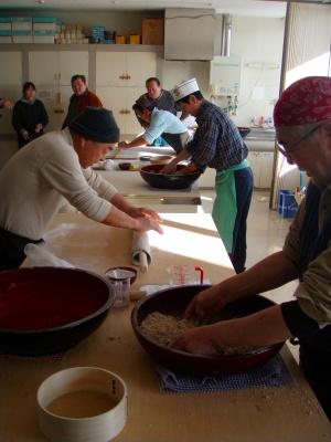 阿寒千年祭り蕎麦打ち