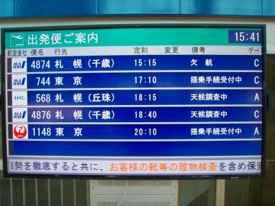 釧路空港天候調査中