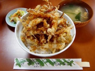 阿寒「奈辺久」のワカサギ天丼
