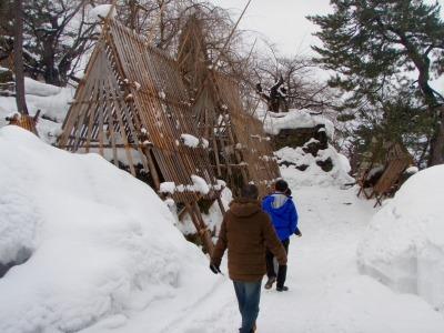 冬の弘前城をご案内