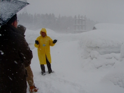 雪の三内丸山遺跡
