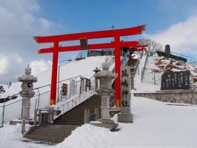 蕪島神社を下から