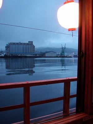小樽屋形船からの薄暮