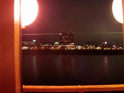 小樽屋形船夜の景観