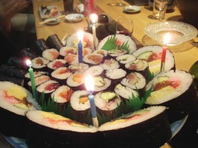 大ずし寿司バースデイケーキ