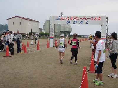 小樽運河マラソンゴール