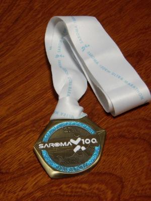 サロマ100km完走メダル
