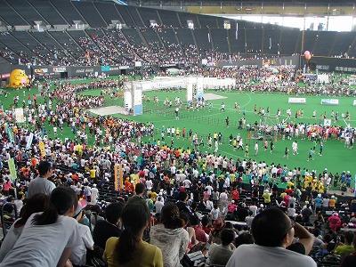 札幌ドームマラソン会場内