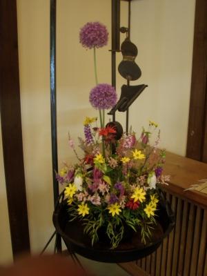 銀婚湯の生け花