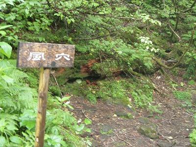 松山湿原「風穴」