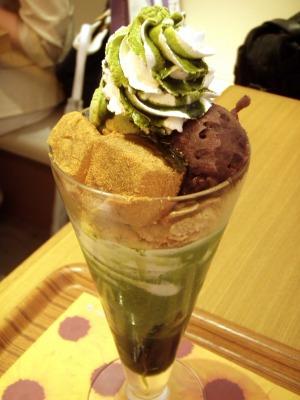 nana's green teaの抹茶わらび餅パフェ