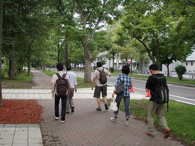 エゾシカエコツアー北大キャンパス