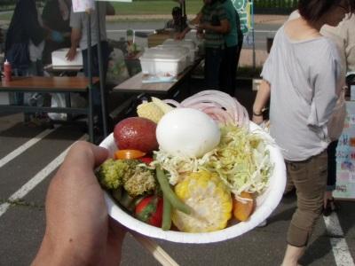 こーまの里収穫祭サラダバー