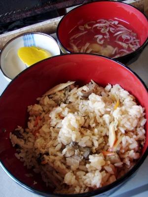 かき小屋牡蠣飯セット