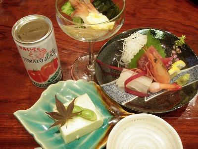 北斗市刺身トマトジュースホッキたまふくら豆腐
