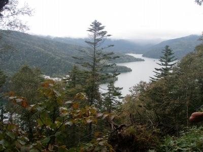 白雲山登山路から然別湖