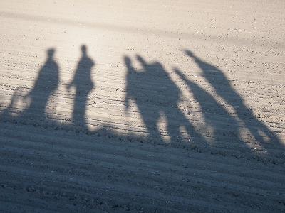 ロングトレイル歩いてる影