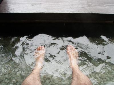 間歇泉公園の足湯