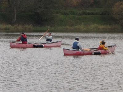 三日月湖アウトリガーカヌー練習