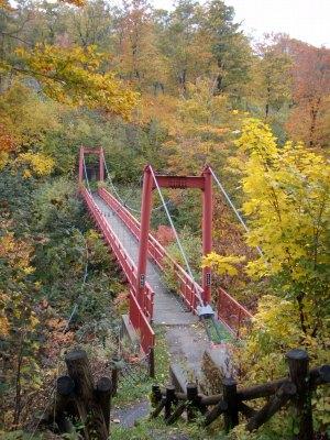賀老の滝上流吊橋