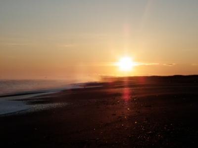 わっかオホーツク海の朝日