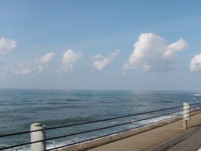 青空の日本海を羽幌へ