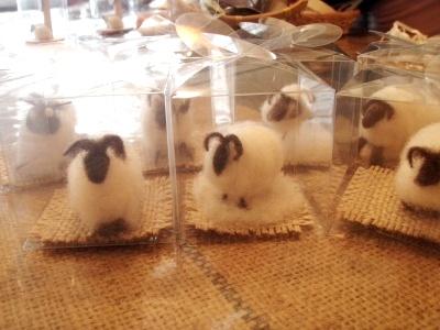 喫茶ガロ羊毛細工羊の群れ