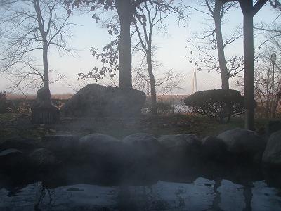 十勝川温泉観月苑の露天風呂