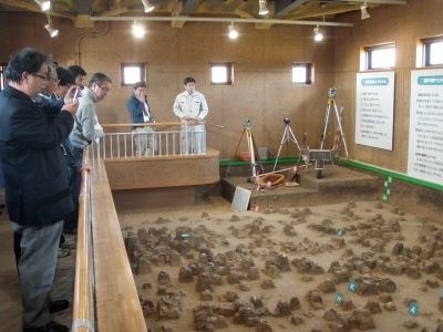 ピリカ遺跡発掘現場展示