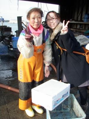 留萌のホタテ漁師さんと佐藤さん