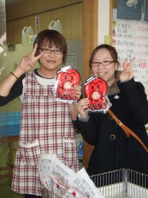 小平のタコ加工品専門店で佐藤さん