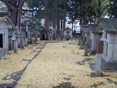 松前寺町の墓所