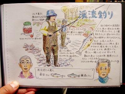 渓流釣りイラスト