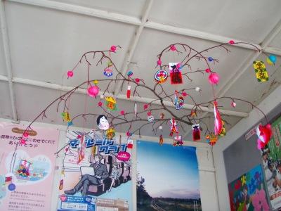 JR天塩中川駅正月飾り2