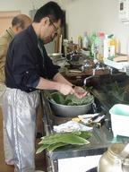 笹の葉洗い
