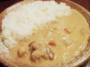 ホワイトカレー皿