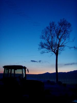 うちやま農園の夕陽