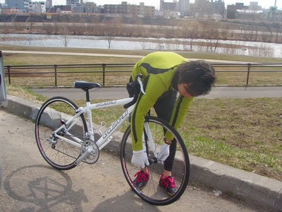 石塚さんバイク調整