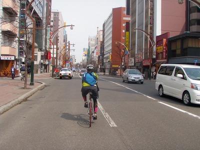 シティサイクリングすすきのへ