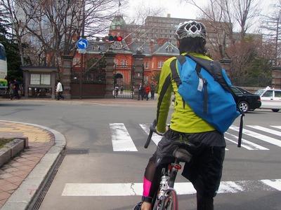 シティサイクリング赤レンガ手前