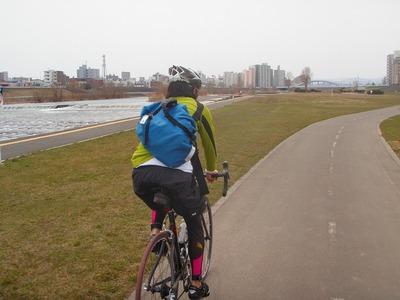 シティサイクリング豊平川河川敷サイクリングロード