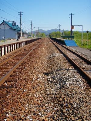 天塩中川駅線路