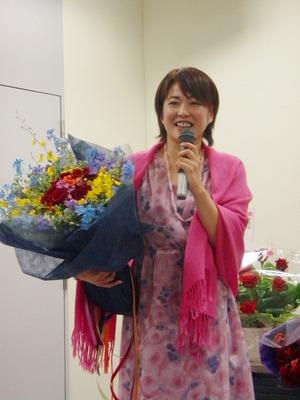 麻子with花束