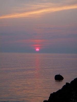 浜益あたりの夕陽