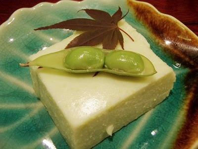 たまふくらの枝豆豆腐